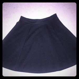Brand new without tags! Black ribbed skater skirt